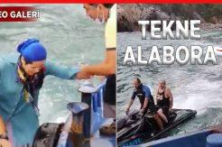 Su alan teknedeki 4 kişi jet skilerle kurtarıldı