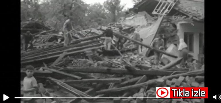 İşte 1968 Bartın depreminden çok özel görüntüler