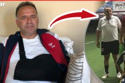 Belediye Başkanı'nın maç oynarken omzu çatladı