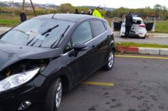 Aday sürücü sınav esnasında kaza geçirdi