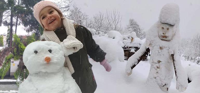 Bartın'dan doyumsuz kar manzaraları!