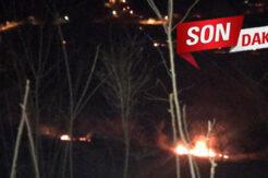 Tuzcular köyünde yangın! Ekipler olay bölgesinde
