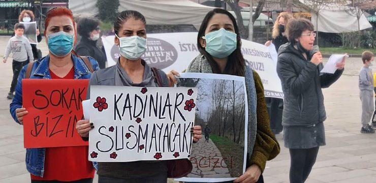 Bartınlı kadınlar ırmak kıyısındaki taciz ardından meydanda eylem yaptı