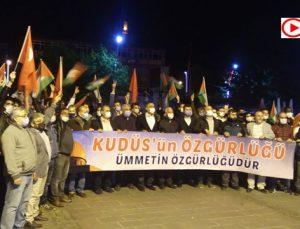 Bartın, gece yarısı sokağa döküldü! İsrail zulmü böyle protesto edildi