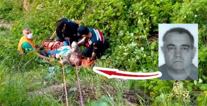30 metre uçurumdan düştü! Kurtarma operasyonu