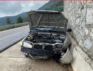 Bir kaza da Amasra'dan! Yoldan çıktı…