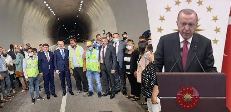 Dağlar delindi, Kurucaşile'yi Bartın'a yakınlaştıran tüneller törenle açıldı